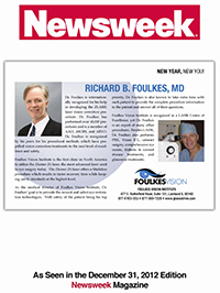 LASIK surgeon Dr. Foulkes Featured in Newsweek